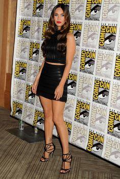 "Megan Fox – 2014 Comic Con ""Teenage Mutant Ninja Turtles"" Panel in San Diego Megan Fox Legs, Megan Fox Face, Megan Fox Style, Megan Fox Hot, Megan Denise Fox, Megan Fox Outfits, Megan Fox Bikini, Megan Fox Pictures, Talons Sexy"
