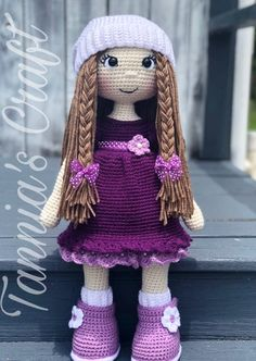 MADE TO ORDER AMIGURUMI DOLL Let me introduce the 21 Inches adorable and beautiful Adry Doll Purple Dress This beautiful amigurumi doll is great for a gift for those little girls who loves dolls Its 21 Inches tall. This dolls is inspired and dedicate for a sweet and adorable girl