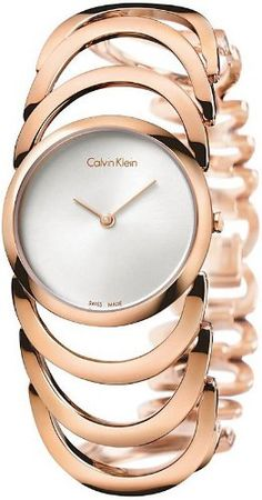 Women's Rose Gold Calvin Klein Body Watch K4G23626 Calvin Klein