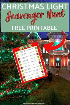 Checking out the Christmas lights while driving around your city? Make this yearly tradition of yours into a fun game with our FREE Christmas Light Scavenger Hunt printable! Click here to download your free copy now.