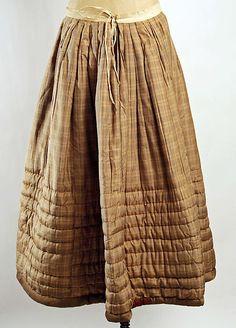 American silk-cotton petticoat, ca. 1850 | The Met