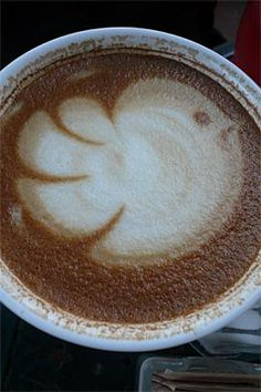 Coffee Art: Bird. This is amazing - think we best get practising our coffee art...