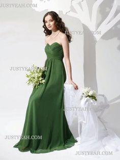 A-Line Sweetheart Chiffon Charmeuse Bridesmaid Dresses