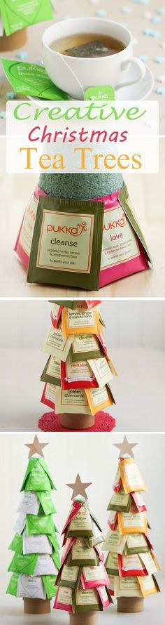 Creative Christmas Tea Trees