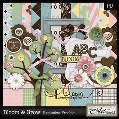 Bloom & Grow mini kit freebie from Word Art World