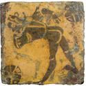 French encaustic tile Danseur saluant