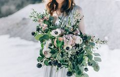"""Styled Shoot Februar 2016 """"Frosted Love"""" by Carolina Auer Photography Wedding Bouquets, Wedding Flowers, Fresh Flowers, Wedding Details, Frost, Flower Arrangements, Wedding Planner, Centerpieces, Floral Wreath"""