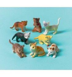 Pk 6 cutie chaton embellissement toppers pour cartes