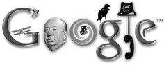 Alfred Hitchcock: Google Doodle