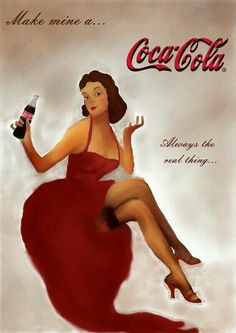 coca cola pin up Pepsi Ad, Coca Cola Poster, Coca Cola Ad, Vintage Coca Cola, Retro Pin Up, Retro Ads, Famous Drawing Artists, Pin Up Photos, Fotografia