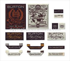 Fashion design garment woven label/ clothing label