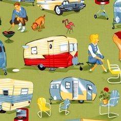 Michael Miller Retro Camping