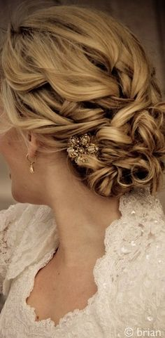 Perfect hair for a wedding