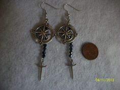 Compass & Dagger Earrings by DysfunctionalAries on Etsy, $16.00