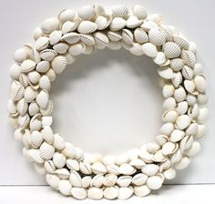 White Seashell Wreath  (http://www.caseashells.com/white-shell-wreath/)