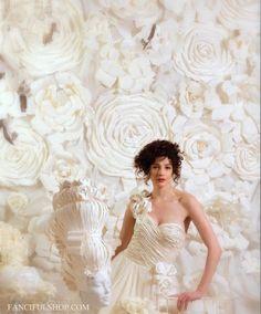 Large bridal white flowerwall arrangement