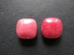 2 boutons de Jade rose 15x15x6mm par lepetitmagaz sur Etsy
