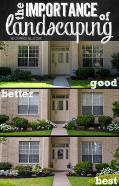 The importance of landscaping in the front yard. Curb appeal!