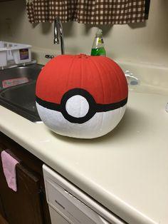 Diy Pokemon ball pumpkin