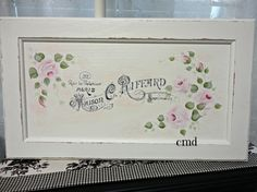 Maison C Riffard French Graphic with Hand by CelestinaMarieDesign, $55.00