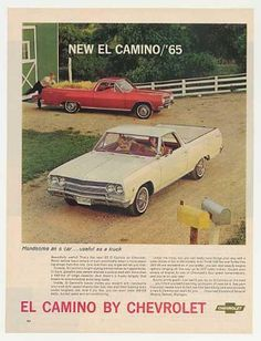 1965 El Camino..... I so wish I still had mine. How I loved that car! Or was it a pickup? Oh whatever! I want mine back!!