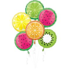 This Fruit Balloons are designed to look like various fruits. Add some decorative color to your summer get-together with these balloons! Fruit Birthday, First Birthday Parties, Birthday Party Themes, First Birthdays, Birthday Ideas, 3rd Birthday, Watermelon Birthday, Birthday Celebrations, Birthday Pictures