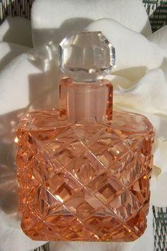 RARE Vintage Czech Perfume Scent Bottle Dauber Intact RARE Peach Salmon Signed   eBay