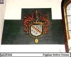 37GIZEUX_eglise Notre-Dame- 8) Celle de Gizeux comporte ainsi les blasons de la famille du Bellay.