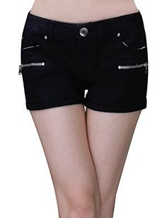 Tom's Ware Women Fashionable Slim Fit Denim Shorts * Continue to the item at the image link.