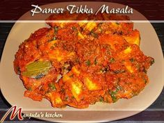 Paneer Tikka Masala is a gourmet dish which is simple to cook but very flavorful. Marinated paneer with tomato gravy makes a delightful dish for a formal dinner.