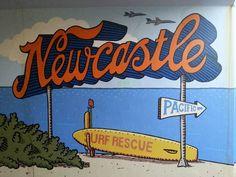 Newcastle mural