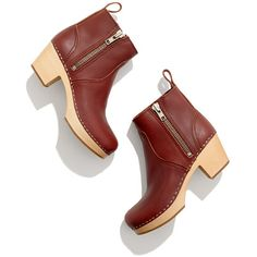 Swedish Hasbeens® 877 Zip It Emy Boots - clogs - Women's SHOES & BOOTS - Madewell