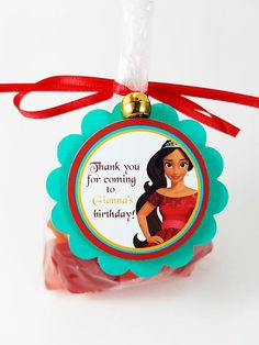 Personalized Elena of Avalor 2 Scallop Birthday Goodie