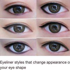 Eye liner really changes eye shape
