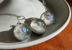 Magical Opal galaxy resin pendant. A beautiful by MoesRangsnThangs