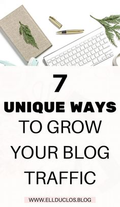 Growing your blog traffic isn't always easy, which is why I am sharing with you 7 unique ways to grow your blog traffic right now! Wordpress For Beginners, Blogging For Beginners, Make Money Blogging, How To Make Money, Blogging Ideas, Affiliate Marketing, Content Marketing, Marketing News, Marketing Strategies