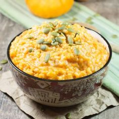 Pumpkin Risotto [Gluten-Free] - Watch Learn Eat