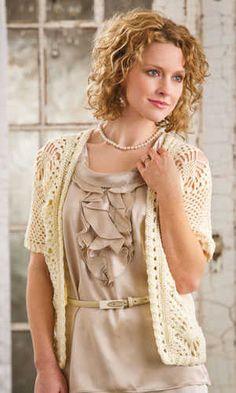 Spider Lace Crochet Jacket, design by Brenda Bourg, Crochet! Magazine pattern