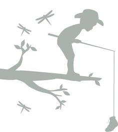 boy fishing decal #Incy Interiors #Dream Children's room