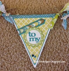 Scrapbooking Sue: Close To My Heart (CTMH) Banner made with Skylark papers. www.scrapbookingsue.blogspot.com