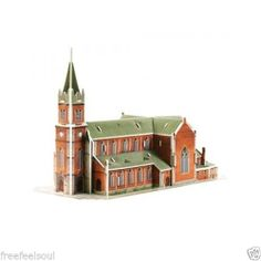 Paper Toy Scale Model Kit for Kids Adult - Myeong-dong Catholic Cathedral