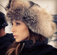 Winter style. Russian hat. Fur. Jennifer Stano.    I kept my receipt for reorders from the older man and women who hand make them...... sweet people