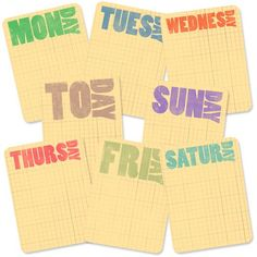 Free Journaling Cards for the Days of the Week | [ One Velvet Morning ]