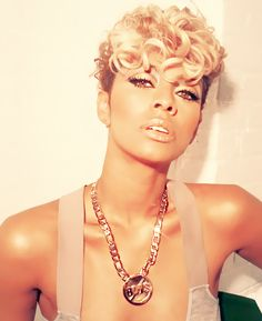 Coiffures courtes Keri Hilson - The UnderCut - Afro Hair Pixie Hairstyles, Celebrity Hairstyles, Keri Hilson Hairstyles, Undercut Hairstyles, Cut Her Hair, My Hair, Hair Kandy, Curly Hair Styles, Natural Hair Styles