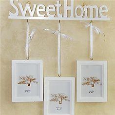 Weiß Sweet Home Wand Bilderrahmen - 3er Satz