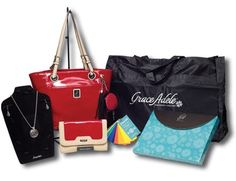 The new Grace Adele start up kit offers the awesome Red Sarah bag and clutch!