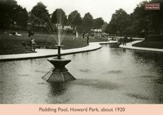 Paddling pool Howard Gardens Letchworth Garden City