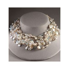 Exotic Excess - Meredith Frederick Pearl and Crystal Necklace found on Polyvore