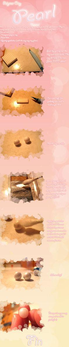 Polymer Clay Tutorial - Pearls by ~MisttheWarrior on deviantART
