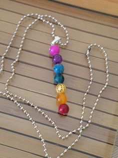 NECKLACE: Pride & Chakra Pendant Necklace by ZensationalGifts  This necklace is festive and fabulous and can be worn by men and women alike!!!  For gay pride or for spiritual awareness with chakra healings, we are ALL ONE and things are all love and all for everyone with this fantastic necklace!!!  ***CHOOSE FROM EITHER A SILVER BALL CHAIN (measures 22 inches) OR A RUBBER CHOKER STRETCH CORD (measures 10 inches)***  BUY NOW AND SAVE BIG!!! ONLY $12.00